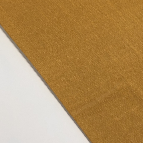 Ochre Linen Look Viscose