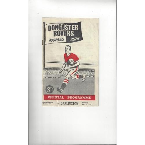1959/60 Doncaster Rovers v Darlington Football Programme