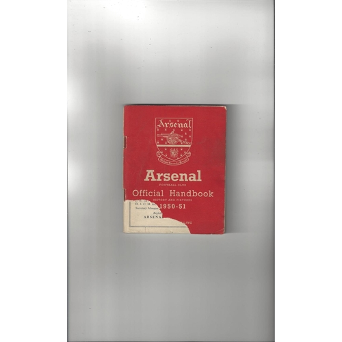 Arsenal Official Football Handbook 1950/51