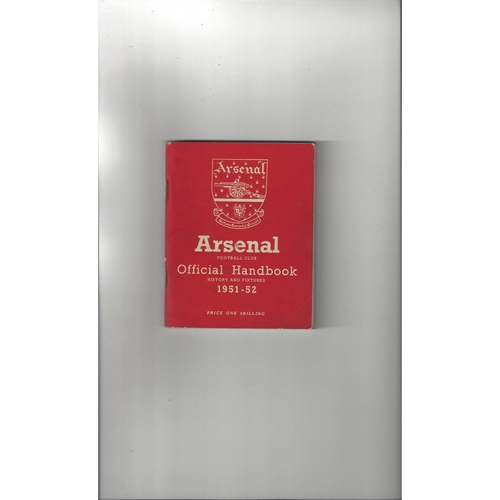 Arsenal Official Football Handbook 1951/52