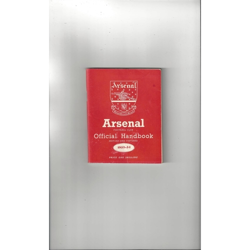 Arsenal Official Football Handbook 1953/54