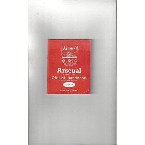 Arsenal Official Football Handbook 1954/55