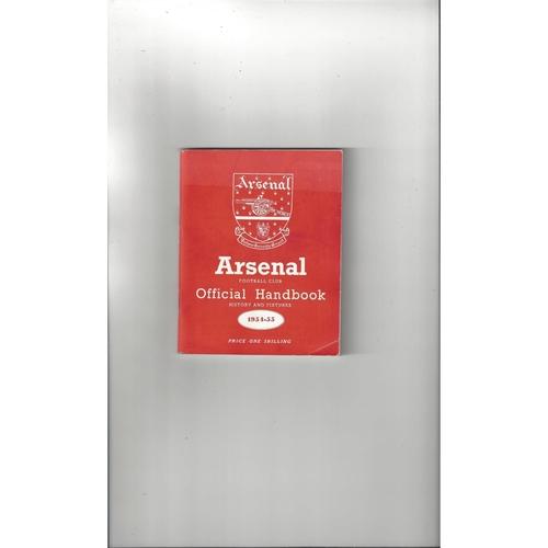 Arsenal Official Football Handbook 1954/55