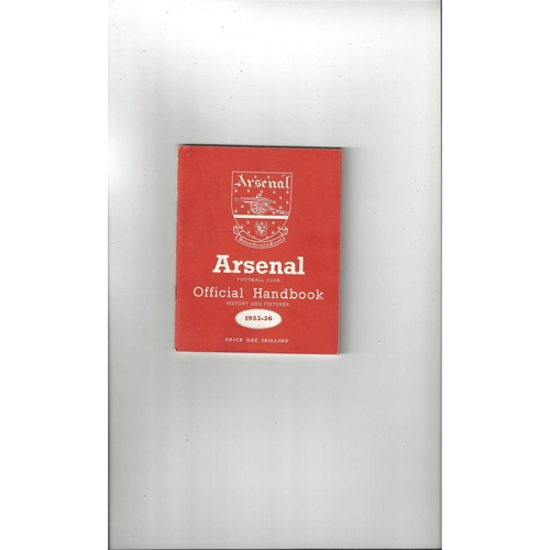 Arsenal Official Football Handbook 1955/56