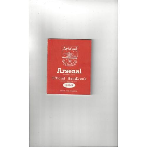 Arsenal Official Football Handbook 1955/56