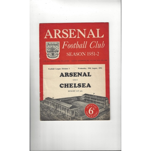 1951/52 Arsenal v Chelsea Football Programme