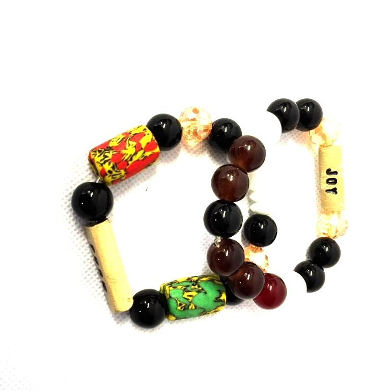 Joy Multi Coloured Handmade Bead Bangles