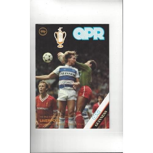1985/86 Queens Park Rangers v Liverpool League Cup Semi Final Football Programme