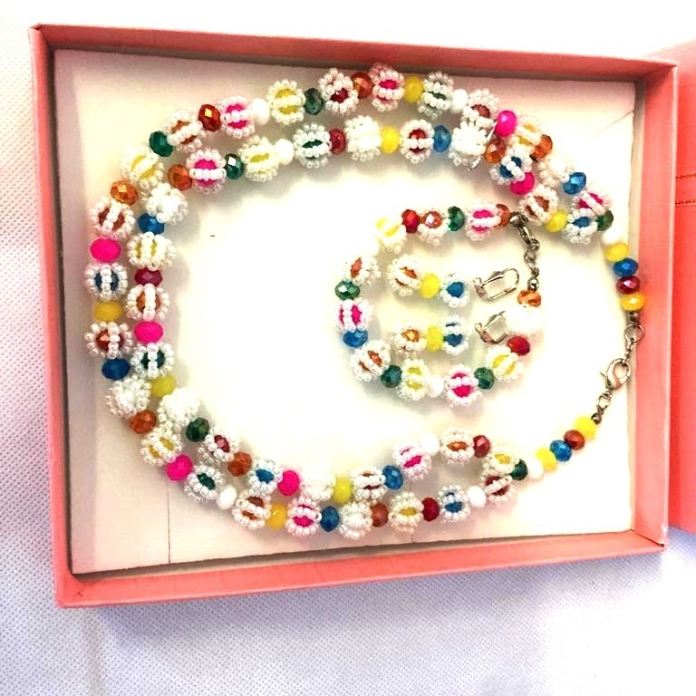 ZD - Candy Multi Coloured Handmade Bead Necklace