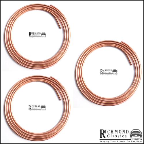 Classic Mini SPI, MPI Copper Fuel Lines, Set of 3 WJP10268/9, WJP10267