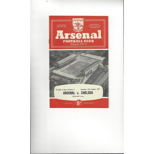 1955/56 Arsenal v Chelsea Football Programme