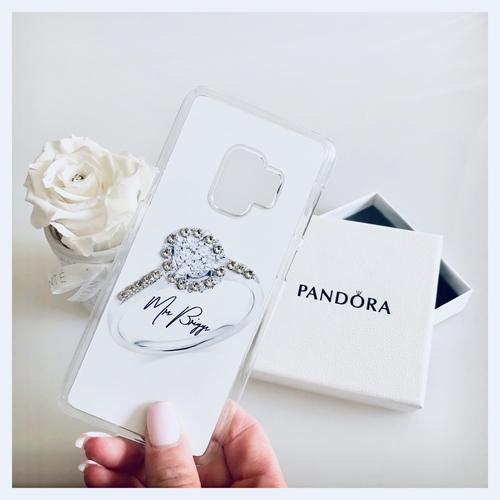 Swarovski Crystal Personalised Phone Case wedding ring