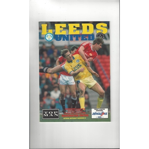 1990/91 Leeds United v Manchester United League Cup Semi Final