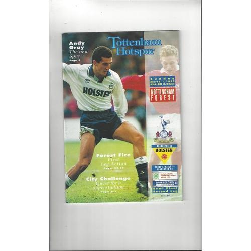 1991/92 Tottenham Hotspur v Nottingham Forest League Cup Semi Final Football Programme