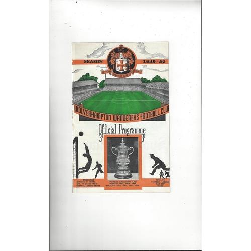 1949/50 Wolves v Manchester United Football Programme