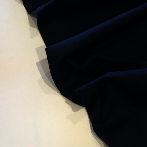 Navy Linen Look Cotton