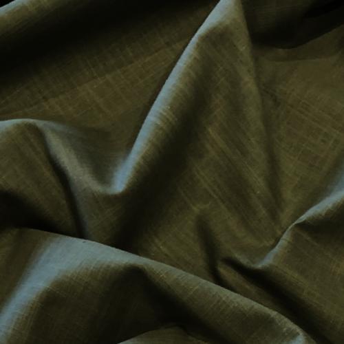 Khaki Linen Look Cotton