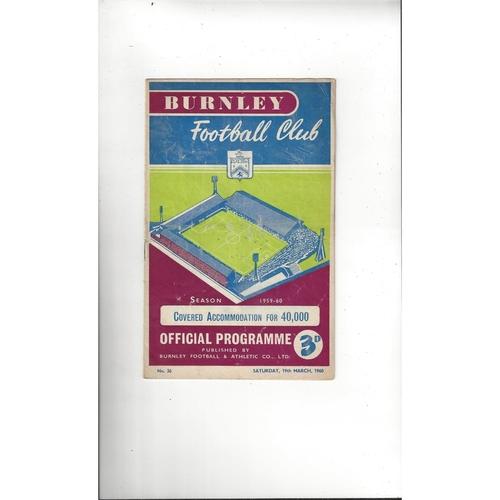 1959/60 Burnley v Arsenal Football Programme