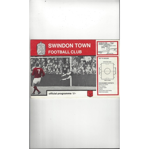 1968/69 Swindon v Burnley League Cup Semi Final Football Programme