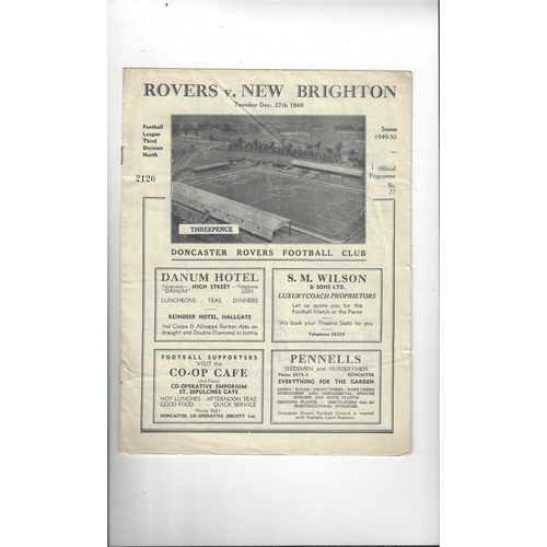 1949/50 Doncaster Rovers v New Brighton Football Programme