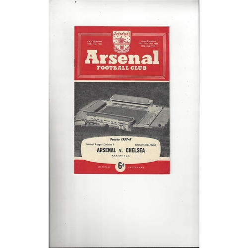 1957/58 Arsenal v Chelsea Football Programme