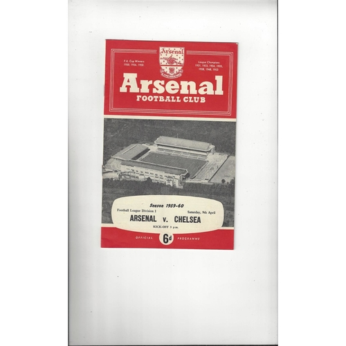 1959/60 Arsenal v Chelsea Football Programme
