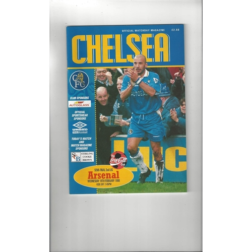 1997/98 Chelsea v Arsenal League Cup Semi Final Football Programme