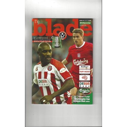 2002/03 Sheffield United v Liverpool League Cup Semi Final Football Programme