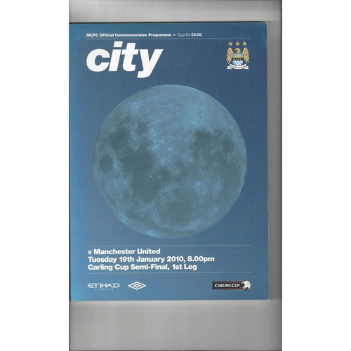 2009/10 Manchester City v Manchester United League Cup Semi Final Football Programme