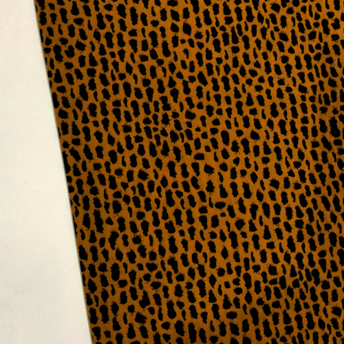 Animal Print Ochre Peachskin
