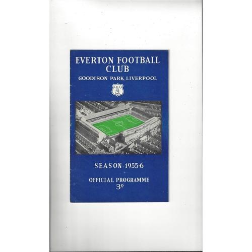 Everton Home Football Programmes