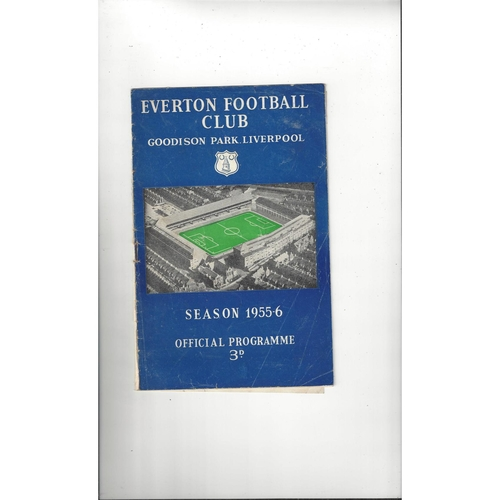 1955/56 Everton v Manchester City Football Programme