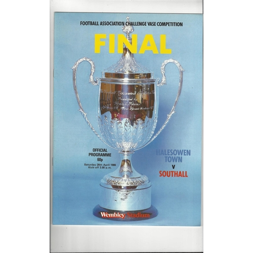 1986 Halesowen Town v Southall FA Vase Final Football Programme