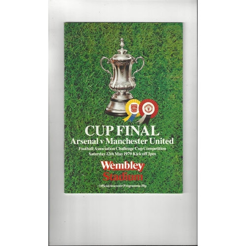 1979 Arsenal v Manchester United FA Cup Final Football Programme