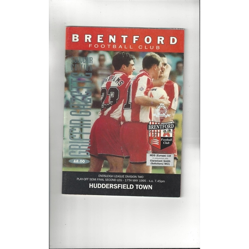 Brentford v Huddersfield Town Play Off Football Programme 1994/95