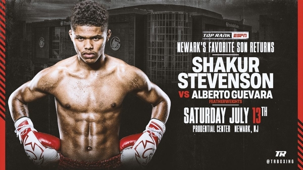 July 13: Shakur Stevenson to Battle Former World Title Challenger Alberto Guevara LIVE on ESPN