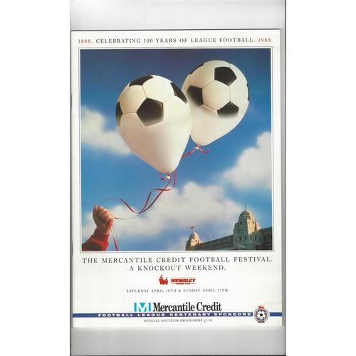 Mercantile Credit Festival Weekend Football Programme 1988