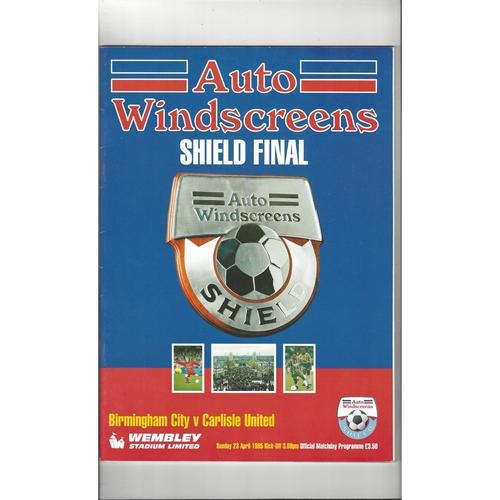 1995 Birmingham City v Carlisle United AWS Final