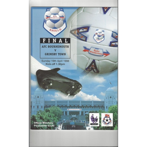 1998 Bournemouth v Grimsby Town AWS Final Football Programme
