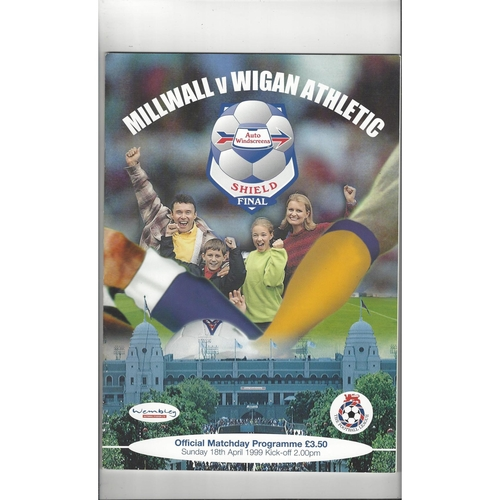 1999 Millwall v Wigan Athletic AWS Final Football Programme