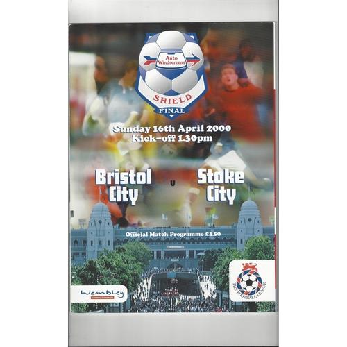 2000 Bristol City v Stoke City AWS Final Football Programme