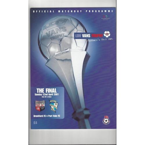Freight Rover Daf & Autoglass Final  Football Programmes