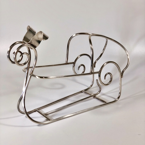 French silver plated wine cradle