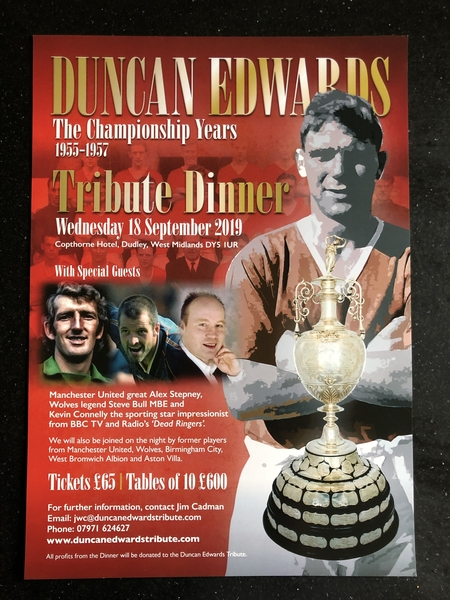Duncan Edwards Tribute Dinner.