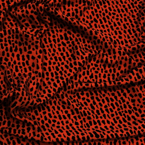 Animal Print Terracotta Peachskin 0.68vm Remnant