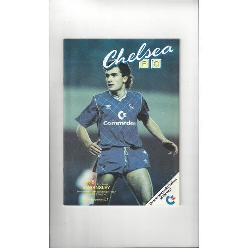 Chelsea v Barnsley Simod Cup Football Programme 1987/88