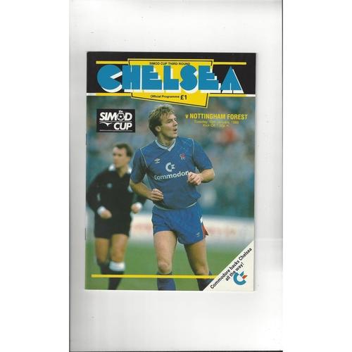 Chelsea v Nottingham Forest Simod Cup Football Programme 1988/89