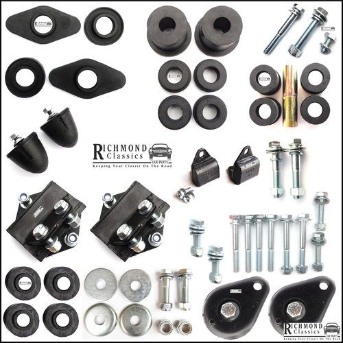 Classic Mini Front & Rear Subframe Rubber Bush Kit - 1976 onwards