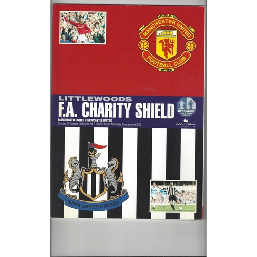 1996 Manchester United v Newcastle United Charity Shield Football Programme