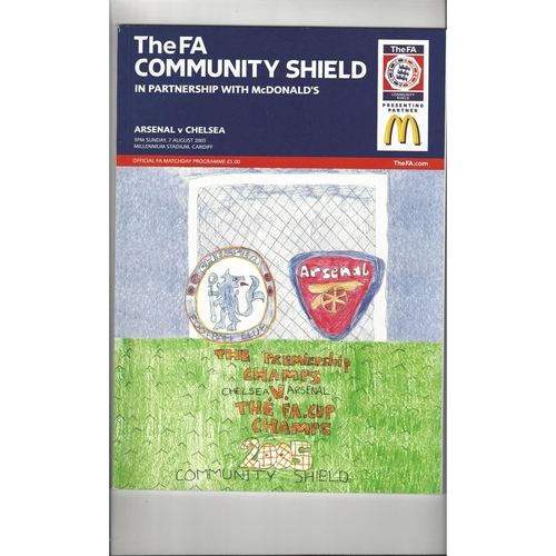 2005 Arsenal v Chelsea FA Charity Shield Football Programme